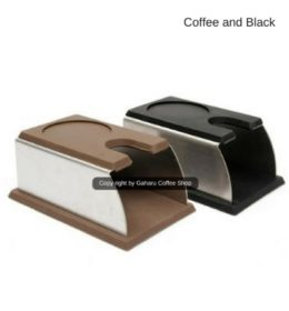 Espresso Coffee Tamper Mat Silicon Rubber Corner Stainless Alat Kopi