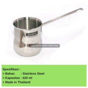 Ibrik atau Arabic Coffee Maker 620 ml - Alat Kopi Turkist Pemanas Susu alat coffee turkish gaharu coffee shop