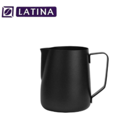 Latina STA-3311 Manta Black Milk Jug Teflon 340 ml Pitcher Alat Kopi