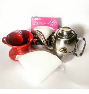 Pour Over Kit - V60 01 Hario, Paper Filter dan Olive Kettle Alat Kopi