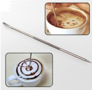 Latte Art Pen Stick Set Mota untuk Menggambar Latte Art Alat Kopi Milk Frother GAharu Coffee Shop Semarang