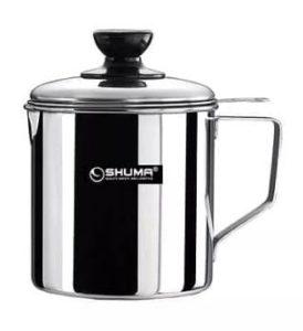 Oil Pot Shuma 700 ml stainless steel for kitchen tempat minyak untuk dapur rumah tangga murah lazada bukalapak tokopedia order
