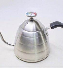 Teko Leher Angsa Latina plus Termometer 900 ml Coffee Kettle Honai